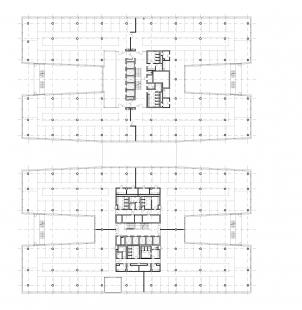 BB Centrum budova Delta - Půdorys typického nadzemního podlaží