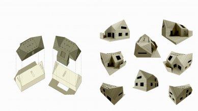 Rodinný dům Žďárský  - Rozložená axonometrie a 3D model - foto: under-construction architects
