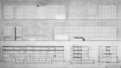 Rietveldova umělecká akademie - Pohledy a řezy