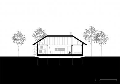 VOJ - The Lake House - Podélný řez - foto: JRKVC