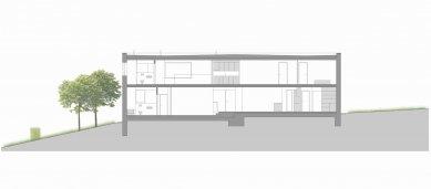 Dvougenerační rodinný dům, Ostrava-Petřkovice - Řez A-A