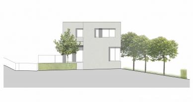 Dvougenerační rodinný dům, Ostrava-Petřkovice - Pohled západní
