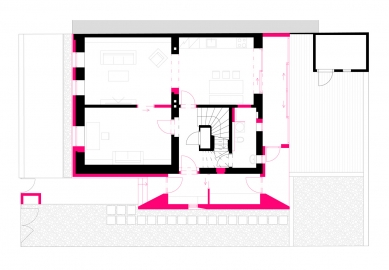 Rekonstrukce rodinného domu - Půdorys přízemí - foto: Archanti