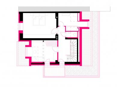 Rekonstrukce rodinného domu - Půdorys patra - foto: Archanti