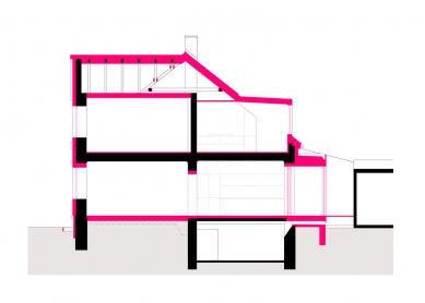 Rekonstrukce rodinného domu - Řez - foto: Archanti