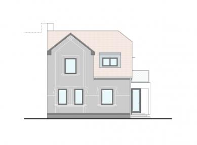 Rekonstrukce rodinného domu - Uliční pohled - foto: Archanti
