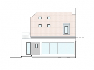 Rekonstrukce rodinného domu - Dvorní pohled - foto: Archanti