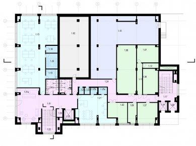 Verona offices -  refurbishment - Půdorys 1NP