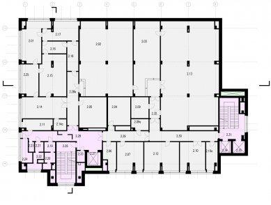 Verona offices -  refurbishment - Půdorys 2NP
