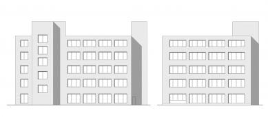 Verona offices -  refurbishment - Pohledy východní a jižní