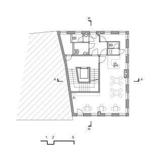Centrum Vlasty Buriana - Pohled 1.NP - foto: Šťastný Pavel Architekt