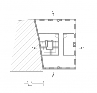 Centrum Vlasty Buriana - Pohled 2.NP - foto: Šťastný Pavel Architekt
