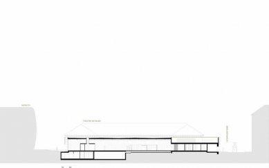 Divadlo v paláci  - Řez - foto: balloon architekten