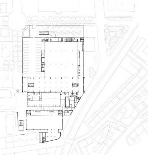 Přestavba a přístavba veletrhů v Innsbrucku - Půdorys přízemí - foto: Cukrowicz Nachbaur Architekten