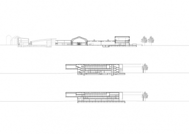 Přestavba a přístavba veletrhů v Innsbrucku - Řezy - foto: Cukrowicz Nachbaur Architekten