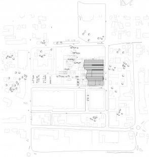 Kulturní centrum města Stjørdal - situace / site plan
