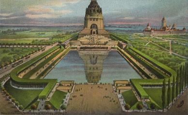 Památník Bitvy národů - Historická kresba