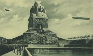 Památník Bitvy národů - Historická fotomontáž