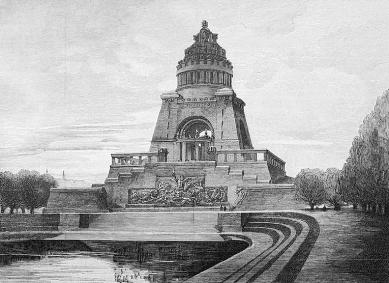 Památník Bitvy národů - Proojekt z roku 1897