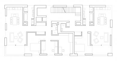 Bytový soubor Triangle - Půdorys 2NP