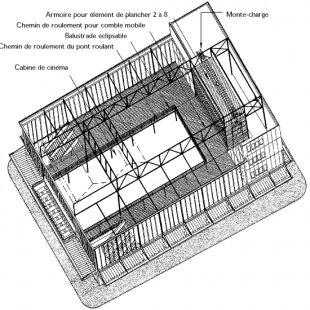 Maison du peuple - Axonometrie
