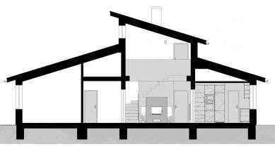 Úprava interiéru s vloženou pracovnou - Řez - foto: Prokš Přikryl architekti