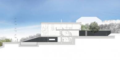 Vila s výhledem - Řez podélný