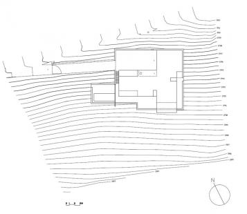 Vila v Beskydech - Situace - foto: Tref-A