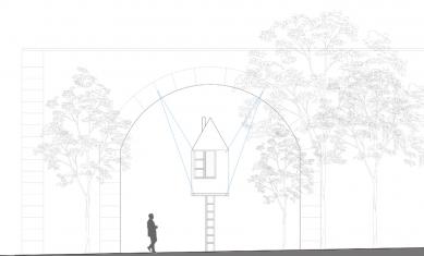 Létající černý dům - Pohled - foto: H3T architekti