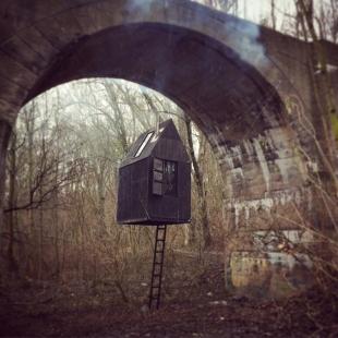 Létající černý dům - foto: H3T architekti