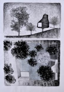 Dům v sadu - Skicy