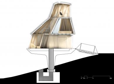 Dům v sadu - Řez