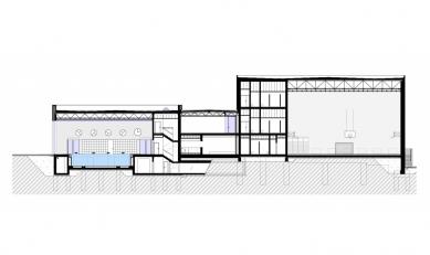 Aplikační centrum BALUO - Řez A-A' - foto: ateliér-r