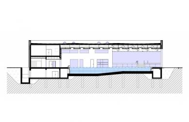 Aplikační centrum BALUO - Řez B-B' - foto: ateliér-r