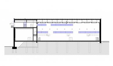 Aplikační centrum BALUO - Řez D-D' - foto: ateliér-r