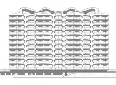 Bytový dům Metropolis - Západní pohled - foto: Future Systems