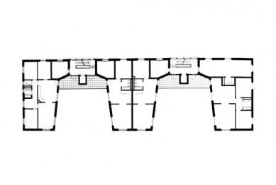 Dům pro hudebníky - Půdorys typického podlaží