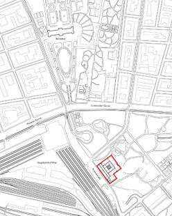 Rekonstrukce a rozšíření pavilonu 20er/21er Haus - Situace - foto: Architekt Krischanitz ZT GmbH