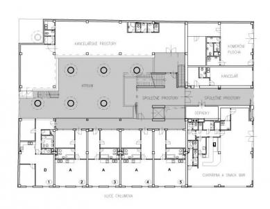 Polyfunkční dům Eucon - 1NP - foto: Fránek Architects