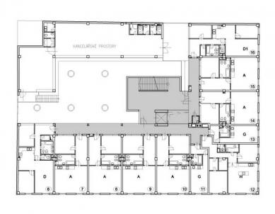 Polyfunkční dům Eucon - 2NP - foto: Fránek Architects
