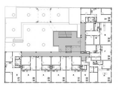 Polyfunkční dům Eucon - 3. a 4. NP - foto: Fránek Architects