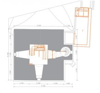 Rekonstrukce Bílé věže v Hradci Králové - Půdorys 4.np - foto: achitekti chmelík & partneři