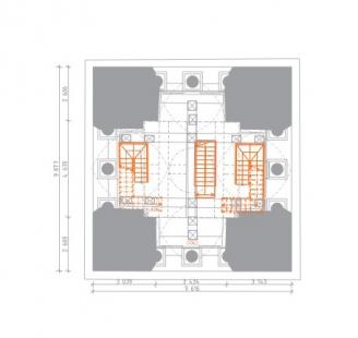 Rekonstrukce Bílé věže v Hradci Králové - Půdorys 7.np - foto: achitekti chmelík & partneři