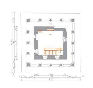 Rekonstrukce Bílé věže v Hradci Králové - Půdorys 10.np - foto: achitekti chmelík & partneři