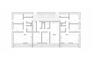 Bytový komplex Nova village - Půdorys patra - foto: What architects