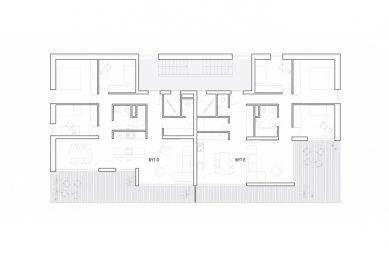 Bytový komplex Nova village - Půdorys nejvyššího patra - foto: What architects