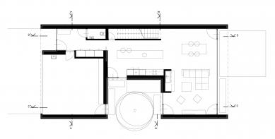 Rodinný dům v Kostelci - Půdorys 1NP