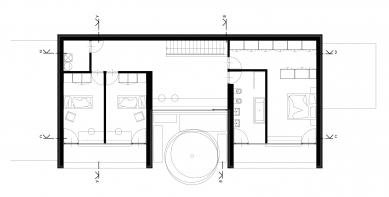 Rodinný dům v Kostelci - Půdorys 2NP