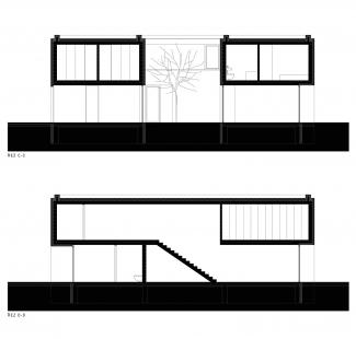 Rodinný dům v Kostelci - Řezy