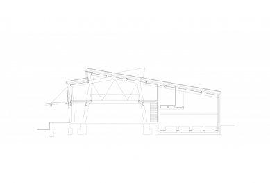 Spolkový dům v Ratíškovicích - Řez - foto: Létající inženýři